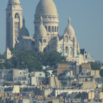 Galeries Lafayette rooftop view of Sacre Coeur.