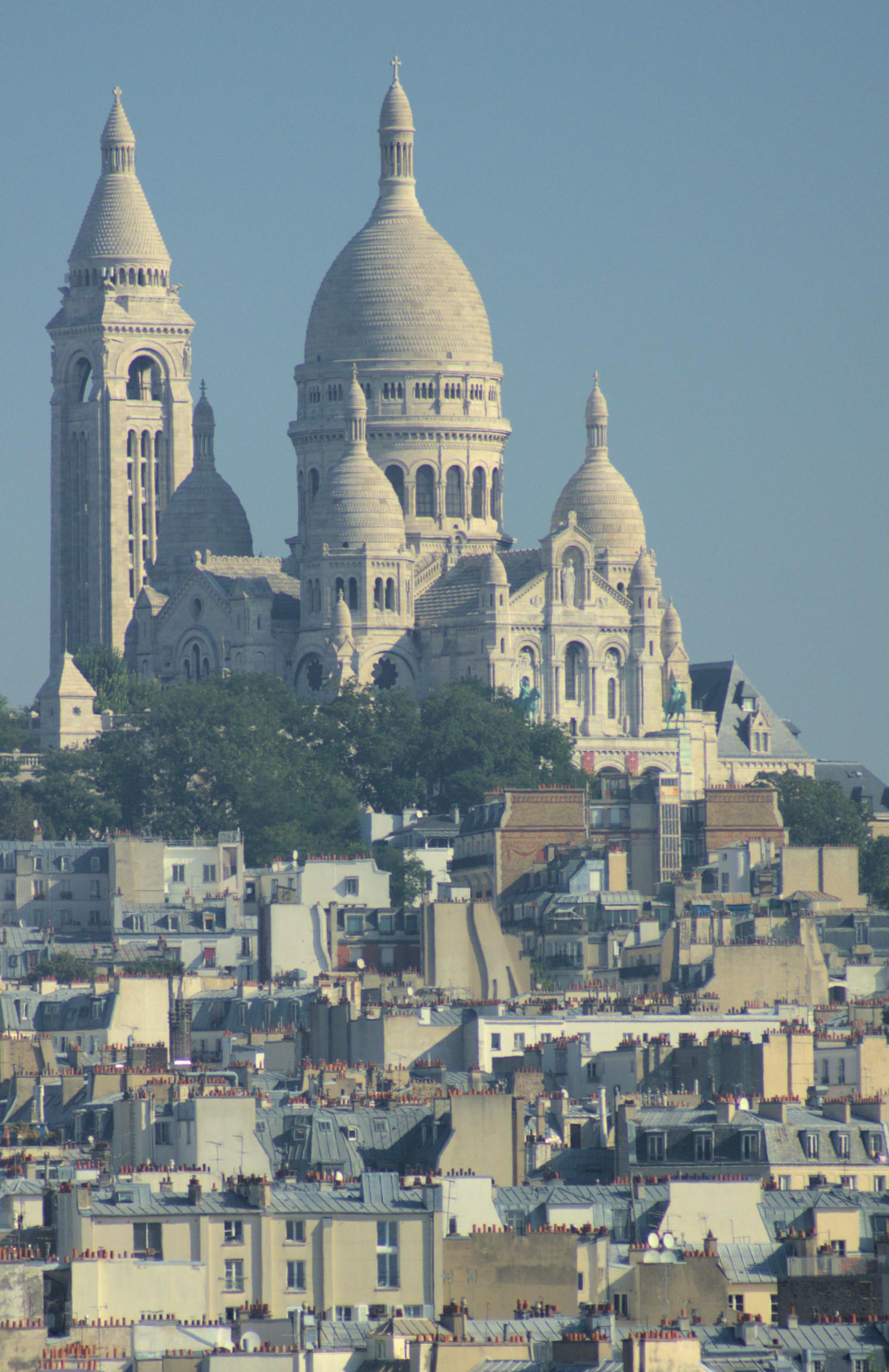 Galeries Lafayette rooftop view of Sacre Coeur.