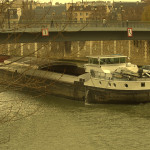 I thought I had found a great parking spot in Paris, and then ... Seine boat in Paris
