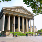 La Madeleine - Église de la Madeleine appropriately on Place de la Madeleine in the 8th arrondissement in Paris. Also appropriate to have a church available so you can pray that you can afford the prices in the designer shops on and around the nearby Rue Saint-Honoré.