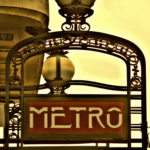 Paris metro sign. Retro feeling for this Paris metro sign.
